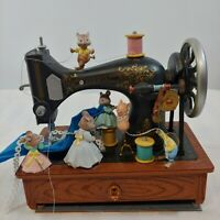 """Vintage Enesco """"Sew Petite"""" Deluxe Multi-Action Musical Sewing Machine FOR PARTS"""