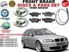 FOR BMW 3 E46 ESTATE TOURING 99-05 FRONT BRAKE DISC SET + PAD KIT + WIRE SENSOR