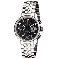 Revue Thommen Auto Chrono Black Dial Stainless Steel Automatic Watch 16051.6137