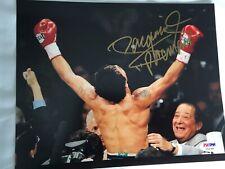 Signed Manny Pacquiao 10 X 8 photo PSA/DNA COA