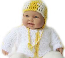 New Kss Handmade White/Yellow Baby Cotton Sweater & Hat (6-9 Months) Sw-134 Sale