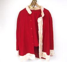 Vintage Corduroy Santa Claus Suit