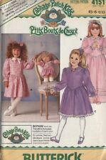Butterick 4151 Cabbage Patch doll dress pattern girl flowergirl 5 6 6X FF collar