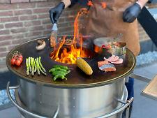 Grill,Grillring,BBQ Ring,Edelstahl,Mobil,Feuerschale,Gartenkamin,Plancha Grill