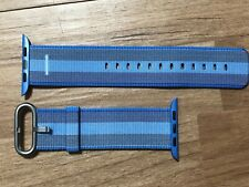 Genuine 42mm 44mm Apple Watch Tahoe Blue Woven Nylon Band Very Rare MPW52AM/A