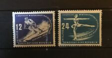 Allemagne Orientale1950 sports d'hiver Y&T n°3-4 neuf **