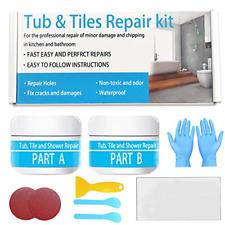 Tile, Acrylic Bath and Shower Repair Kits - White 5oz | Porcelain Repair | Tray