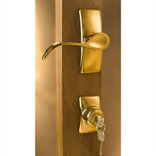 "Storm Door Handle Set-Bright Brass-Two Piece for 1-1/4"" Thick Door-90168-022"