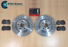 Clio 2.0 197 06-09 Drilled Grooved Front Brake Discs + Brembo Pads