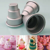 DIY 3-Tier Cupcake Pudding Chocolate Cake Mold Baking Pan Mould Party Alloy Tool
