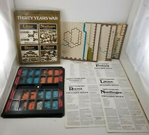 Vintage Thirty Years War Four Battles SPI Avalon Hill Board Game