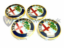 Set of 4 Official Genuine Alfa Romeo 166 50mm alloy wheel centre caps 60652886