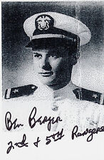 Pointe-du-Hoc D-Day, Naval Liaison Officer, Silver Star, Ben Barger SIGNED PHOTO