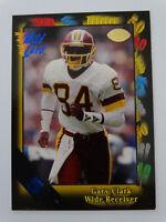 1991 Wild Card #41 Gary Clark Washington Redskins 5 Stripe Football Card