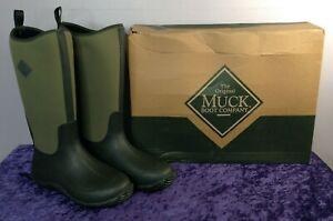 The Original Muck Boot Company Wellington Boots Moss Green Size 8 UK