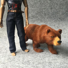 "1/6 BROWN BEAR MODEL The Simulation Animal Series 12"" Action Figure Set 1:6 Toy"