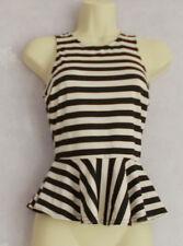New Ladies black/white stripe top Size 6/8