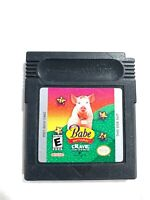 Babe and Friends (Nintendo Game Boy Color, 1999) Tested Working Authentic!