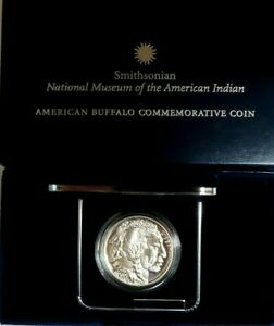 2001 PROOF COMMEMORATIVE SMITHSONIAN BUFFALO SILVER DOLLAR, WITH BOX & COA