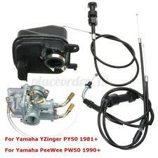 Carburetor Carb & Air Filter & Throttle & Choke Cable For YAMAHA Y ZINGER PW50