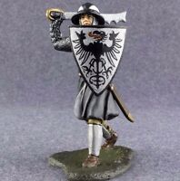 1/32 Figure Painted Toy Soldiers Medieval Knight Metal 54mm Tin Miniature