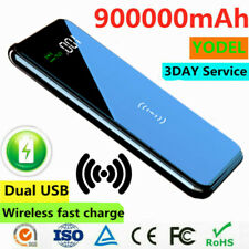 2021 Power Bank 900000mAh Qi Wireless&2USB External Battery Charger Fast Charge
