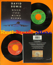 LP 45 7'' DAVID BOWIE When the wind blows 1986 italy VIRGIN VIN 45210 cd mc dvd*