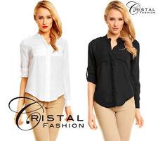 M Damenblusen, - tops & -shirts mit klassischem Kragen aus Polyester