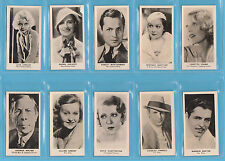 FILM STARS - R. J. LEA LTD. - RARE SET OF 36 FILM STARS 1ST SERIES  - 1934