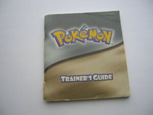pokemon trainers guide silver gold edition instruction booklet