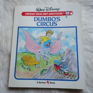 WALT DISNEY DUMBO'S CIRCUS 1985 A Bantam Book children's CYOA Fiction Adventure