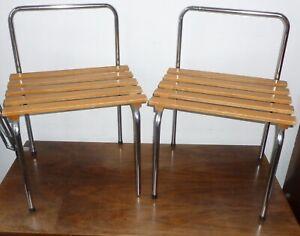 PORTE BAGAGE TABLE CHEVET CHARLOTTE PERRIAND LES ARCS DESIGN AN 70 Le Corbusier