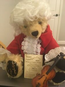 "HERMANN WOLFGANG MOZART LIMITED EDITION 17"" TEDDY BEAR NO 262 OF 500"