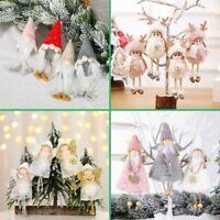 2020 Christmas Angel Plush Doll Pendant Xmas Tree Hanging Decor Party Ornaments