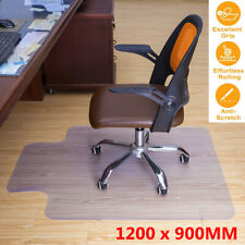 More details for 90x120cm frosted non-slip office chair desk mat floor carpet protector pvc clear