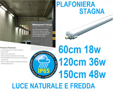 PLAFONIERA STAGNA completa DI LED NO TUBO T8 60-120-150 CM 220V SOFFITTO IP65