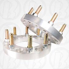 """2 USA MADE 8 Lug 6.5"""" To 8 x 6.5"""" Wheel Adapter 1"""" Spacer 14mm1.5 Stud & Lug nut"""