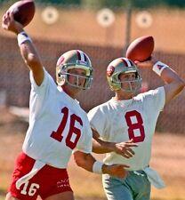 JOE MONTANA & STEVE YOUNG 8X10 PHOTO SAN FRANCISCO 49ers PICTURE NFL FOOTBALL