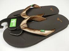 Sanuk Womens Sandals Yoga Mat Wander Metallic Bronze Size 7
