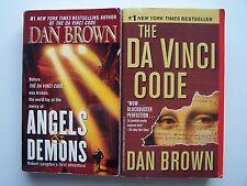 Dan Brown Angels & Demons / Da Vinci Code Vintage Paperback Lot