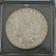 1896-O Morgan Silver Dollar Certified ICG AU 50 Details, Scratched  A-950