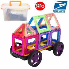 64Pcs Magnetic Building Blocks Construction Children Toys Educational Block Kids
