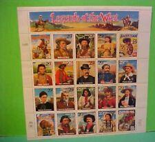US Stamp Souvenir Sheet Mint 20 Legends of the West 29 cent stamps