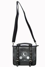 Banned Black Occult Cosmic Moon Pentagram Satchel Bag Handbag Goth Alternative