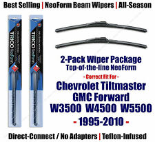 2pk NeoForm Wipers - 1995-2010 Chevrolet Tiltmaster W3500 W4500 W5500 - 16200x2