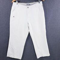 Columbia Sportswear Womens Capri Pants Size 10 Ivory Chino Pant Cropped Cotton