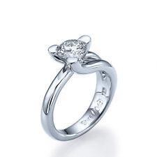 14 Carat Solitaire White Gold SI1 Fine Diamond Rings
