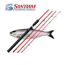 "SANTIAM FISHING RODS 4 PC 7'6"" 4-10LB ULTRALIGHT KOKANEE/TROUT TRAVEL ROD"