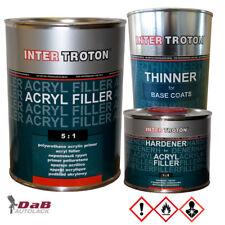 Inter Troton 2K Acryl Dickschichtfüller 5:1 grau | Grundierung 4 Liter Set