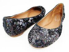Collection $248 ELIE TAHARI REGINA SEQUIN BALLET FLATS SLIP ON Women's 6 36